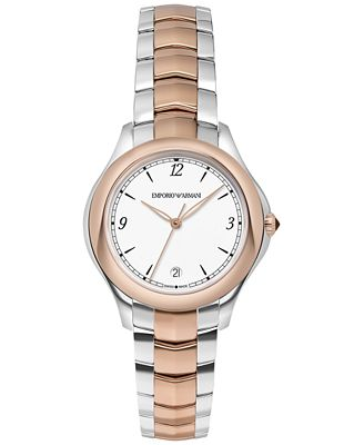 Emporio Armani Women's Swiss Automatic Esedra Two-Tone Stainless Steel Bracelet Watch 32mm ARS8506