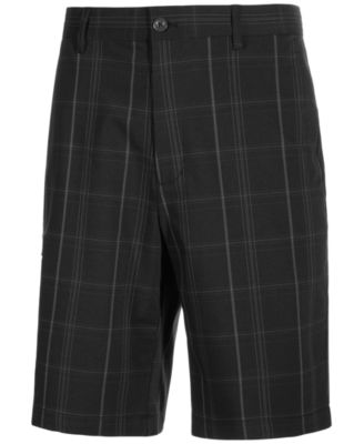 Image of Greg Norman for Tasso Elba Men's Plaid Golf Shorts, Only at Macy's