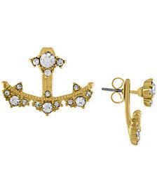 RACHEL Rachel Roy Gold-Tone Crystal Studded Floater Earrings