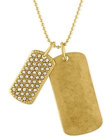 RACHEL Rachel Roy Gold-Tone Double Dog Tag Pendant Necklace