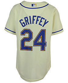 Majestic  Ken Griffey Jr. Seattle Mariners Player Replica CB Jersey, Big Boys (8-20)