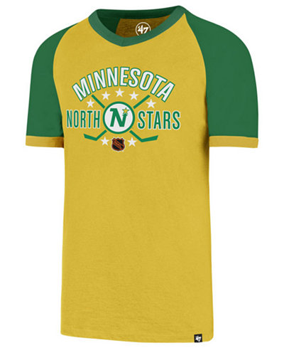 '47 Brand Men's Minnesota North Stars Expansion Ship Raglan Ringer T-Shirt