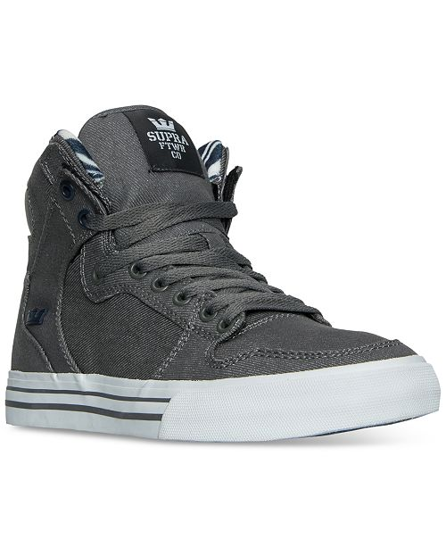892728e67c464 ... SUPRA Men rsquo s Vaider Casual Skate High Top Sneakers from Finish ...