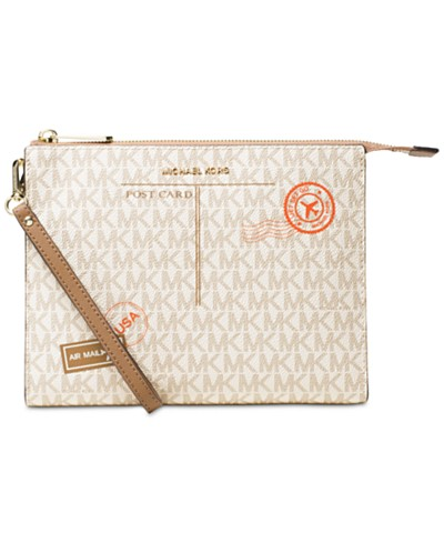 MICHAEL Michael Kors Signature Mail Medium Box Travel Pouch