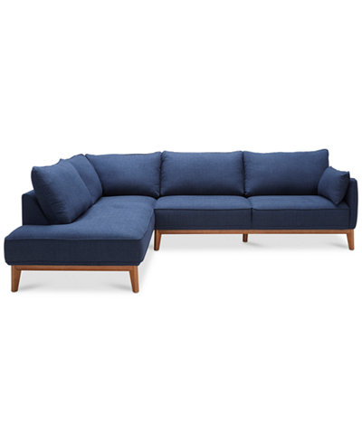 Jollene 2 Pc Sectional Only At Macy 39 S Furniture Macy 39 S