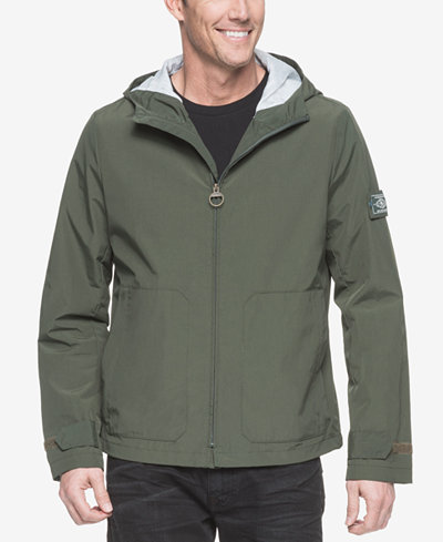 G.H. Bass & Co. Men's Hooded Rain Jacket - Coats & Jackets - Men ...