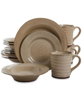 Denby Natural Canvas Collection · Gibson Mariani Taupe 16-Piece Dinnerware Set  sc 1 st  international-luxury.com & Safari style dinnerware for tables with an international excitement ...