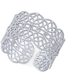 I.N.C. Crystal-Studded Filigree Ring, Created for Macy's