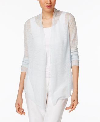 Eileen Fisher Sheer Open-Front Cardigan - Sweaters - Women - Macy's