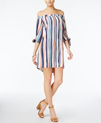 Bar III Off-The-Shoulder Shift Dress, Created for Macy's