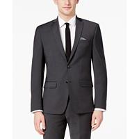 Bar III Men's Skinny Fit Stretch Wrinkle-Resistant Charcoal Suit Jacket