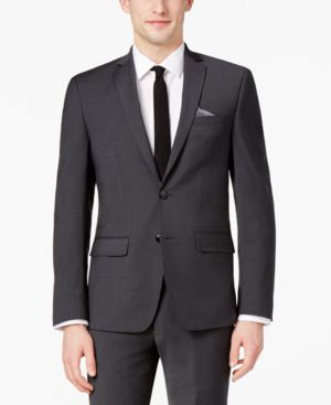 Bar Iii Men's Extra-Slim Fit Stretch Wrinkle-Resistant Charcoal Suit Jacket, Created for Macy's thumbnail