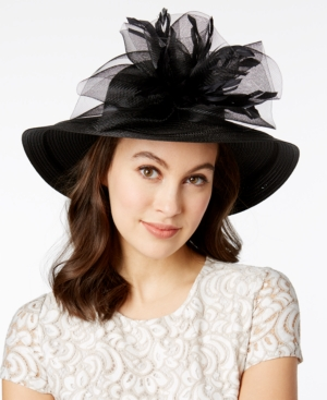 Retro Vintage Style Hats August Hats Orchid Wide Brim Hat $58.00 AT vintagedancer.com