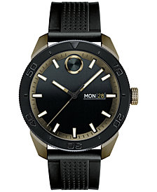 Movado Men's Swiss Bold Black Silicone Strap Watch 43mm 3600452