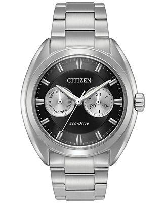 Citizen Men's Eco-Drive Dress Stainless Steel Bracelet Watch 43mm BU4010-56E