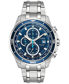 Citizen Men's Chronograph Eco-Drive Titanium Bracelet Watch 43mm CA0349-51L