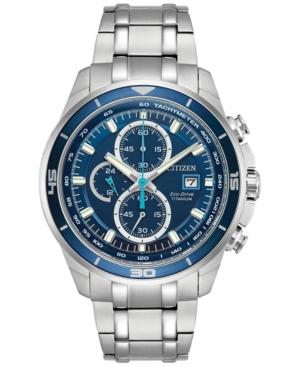 Citizen Men's Chronograph Eco-Drive Titanium Bracelet Watch