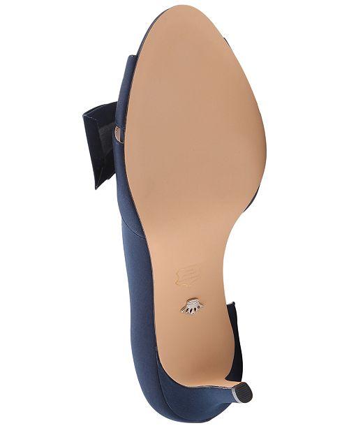 2760fd7dff2b6 Nina Forbes 2 Bow Peep-Toe D'Orsay Evening Pumps & Reviews - Pumps ...