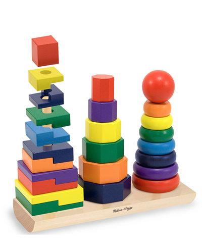 Melissa and Doug Kids Toys, Geometric Stacker