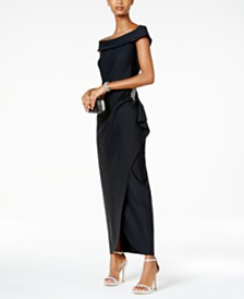 Alex Evenings Off-The-Shoulder Embellished Gown
