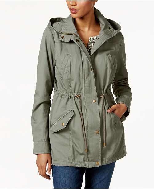 5e2b1f622d072 ... Style   Co Cotton Hooded Utility Jacket