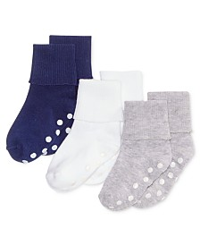 First Impressions Baby Boys 3-Pk. Cuffed Low-Cut Socks, Created for Macy's