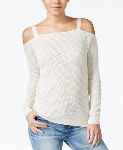 American Rag Cold-Shoulder Sweatshirt, Created for Macy's