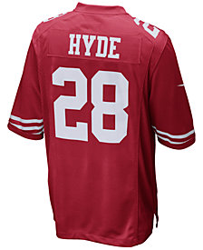 Nike Men's Carlos Hyde San Francisco 49ers Game Jersey