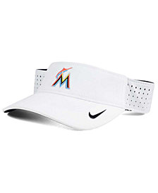 Nike Miami Marlins White Dri-FIT Visor
