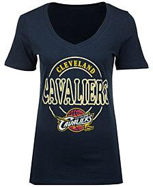 5th & Ocean Women's Cleveland Cavaliers Circle Glitter T-Shirt