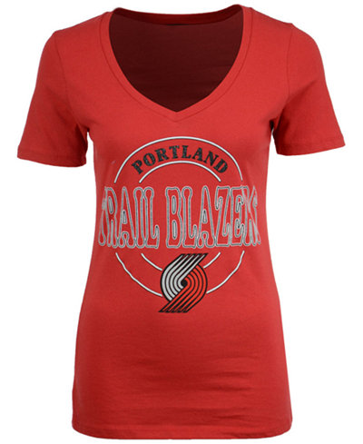 5th & Ocean Women's Portland Trail Blazers Circle Glitter T-Shirt
