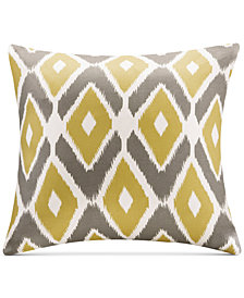 "Madison Park Ashlin Diamond-Print 20"" Square Decorative Pillow"