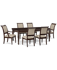 Syrah Dining Furniture, 7-Pc. Set (Dining Table, 4 Side Chairs & 2 Arm Chairs)