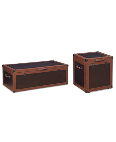 CLOSEOUT! Voyager Storage Trunk 2-Pc. Set (Coffee Table & End Table), Created for Macy's