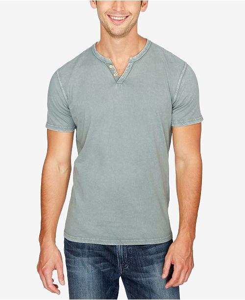 Lucky Brand Short Sleeve Button Notch Tee Discount Wiki JxiJASa