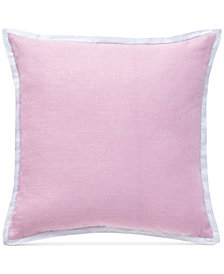 "CLOSEOUT! bluebellgray Dusty Pink 18"" Square Decorative Pillow"