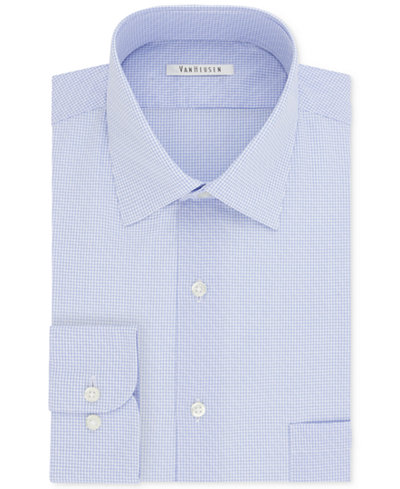 Van heusen men 39 s classic regular fit wrinkle free dress for Van heusen men s regular fit pincord dress shirt