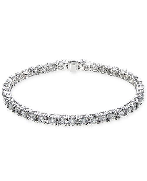 Macy's Diamond Tennis Bracelet (3-1/2 ct. t.w.) in 14k White Gold