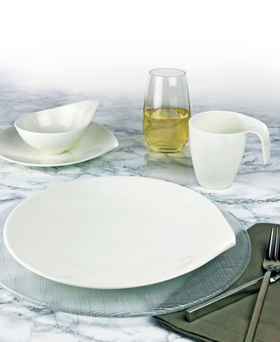 villeroy boch dinnerware flow collection dinnerware dining entertaining macy 39 s. Black Bedroom Furniture Sets. Home Design Ideas