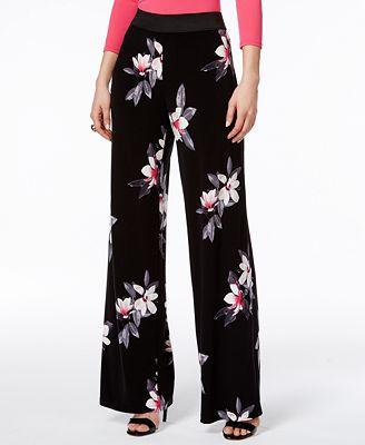 Alfani Petite Printed Wide-Leg Pants, Created for Macy's