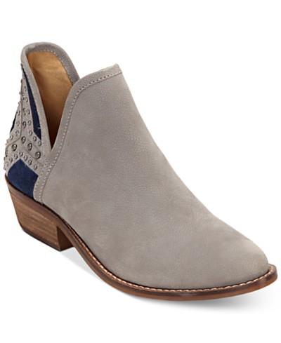 Lucky Brand Kambry Chopout Block-Heel Booties