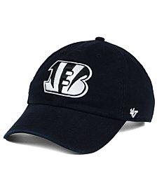 '47 Brand Cincinnati Bengals Black and White CLEAN UP Cap