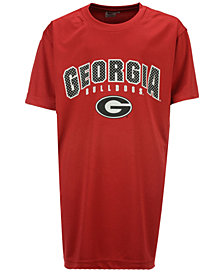 Colosseum  Georgia Bulldogs Mesh Poly T-Shirt, Big Boys (8-20)
