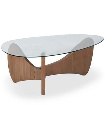 Brynden Glass Top Coffee Table, Quick Ship