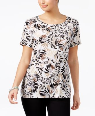 Image of JM Collection Printed Jacquard Top, Only at Macy's