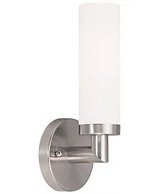 Livex Aero 1- Light Brushed Nickel Sconce