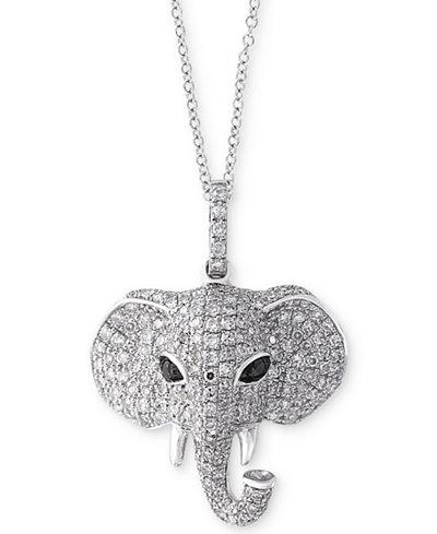 Caviar by effy diamond elephant pendant necklace 34 ct tw in caviar by effy diamond elephant pendant necklace 34 ct tw aloadofball Images