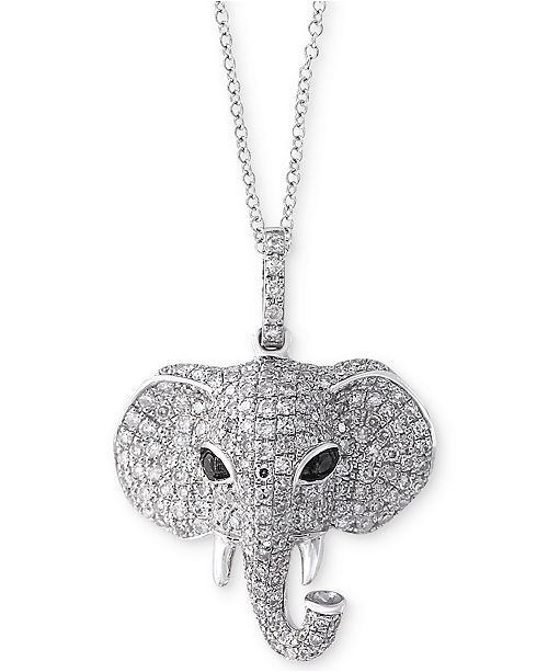 anniversary elephant prod sydney with p pendant necklace mu diamonds evan