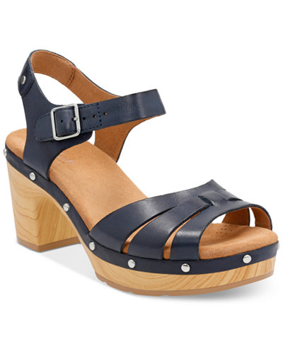 Clarks Artisan Women S Ledella Trail Platform Sandals