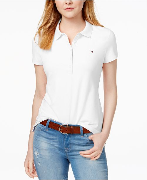 Tommy Hilfiger Women's Polo Shirt Original Flag with Short